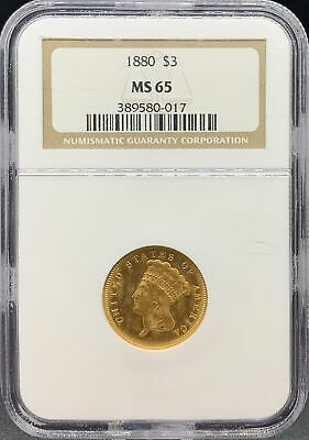 1880 $3 Princess MS65 NGC (#PA389580017)