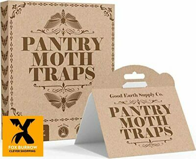 Good Earth Supply Co. Premium Pantry Moth Traps Eco Friendly with Pheromone Attr