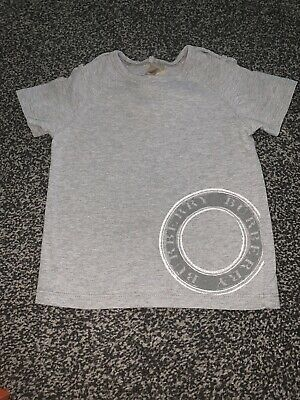 Burberry Boys Grey Tshirt Top 18months Small Fit More 12months