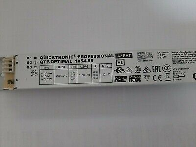 1 x OSRAM  Quicktronic QTP Optimal1 x 54-58 W EVG   220-240-V