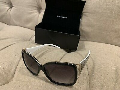 GIVENCHY Large Navy Blue White Handles Sunglasses