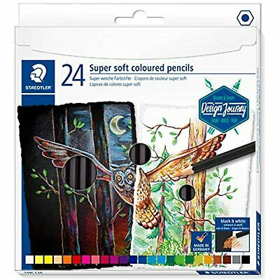 Staedtler Super Soft coloring pencils, rich pigments perfect for light and dark