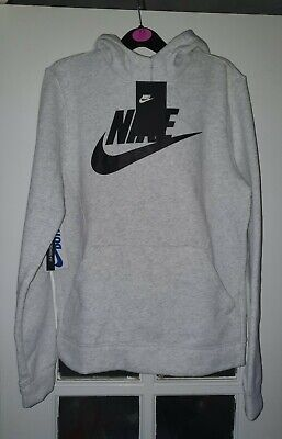 Bnwt Boys Grey Nike Hooded Jumper Size L Age 12-13 Years From Jd
