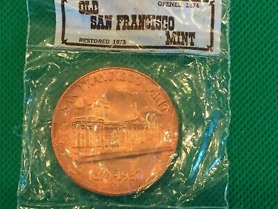 Old San Francisco Mint Commemorative Coin 1874-1937 Sealed Original Packaging