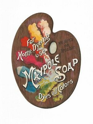 Maypole Soap Artist Pallete For Home Dyeing Use Dyes All Colors Vintage Ad