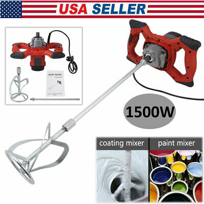 1500W Handheld Electric Mixer 6-speed For Stirring Mortar Paint Cement Grout