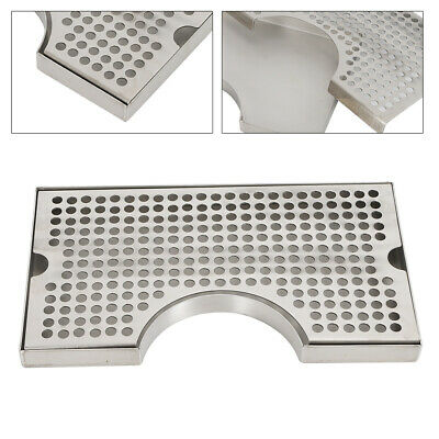 Tap Draft Beer Kegerator Tower Drip Tray Stainless Steel Surface Mount No Drain