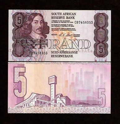 South Africa 5 Rand P119 E 1990 Diamond Grain Unc Currency Money Bill Bank Note