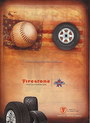 Firestone Tires--Baseball/MLB All Star Game--2010 Magazine Advertisement