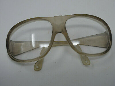 Vintage Uvex X-Z87 Aviator Style Clear Plastic Safety Glasses
