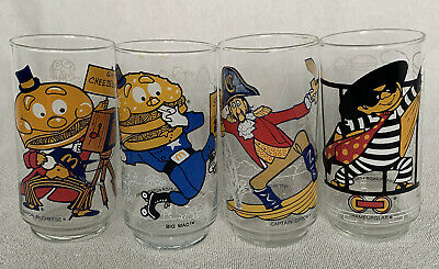 McDonaldLand Vintage Action Series 4 Character Glasses 1977