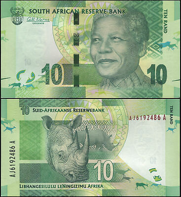 South Africa 10 Rand. ND (2012) UNC. Banknote Cat# P.133a