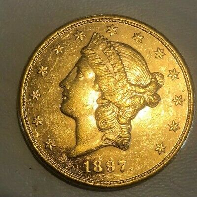 1897s $20 DOUBLE EAGLE GOLD COIN LIBERTY