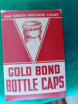 GOLD BOND Bottle Caps ~ Bond Crown & Cork Co ~ Vintage