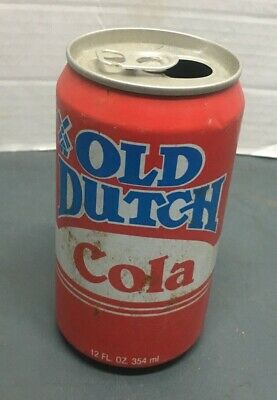 Old Dutch Cola 12 Oz Opened Empty  Can