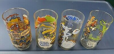 The Great Muppet Caper - Set of 4 McDonald's Muppets Glasses - 1981 - Never Used
