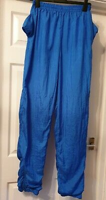 Excellent Condition Ladies Blue Shell Trackie Bottoms Size Small