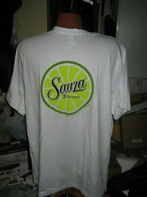 NEW Sauza Tequila Promo T-Shirt adult Size XXL white lime green NWOT