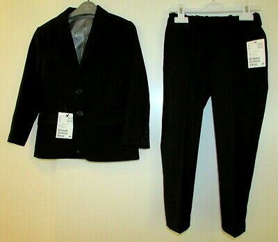 New With Tags Boys Black Suit By H&M 4-5 Years Black Trousers & Jacket