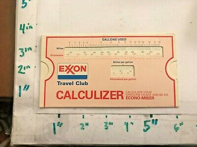 Exxon Oil Co Travel Club Econo-Miser 1970s Gas Usage Calculizer NOS Unused