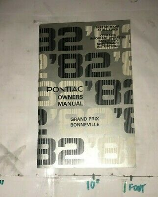 1982 Pontiac Grand Prix Bonneville Owners Manual Very Clean Original