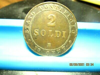 Vatican - 1866 - Two Soldo  - KM-1373 - Nice Coin      ( V-54)