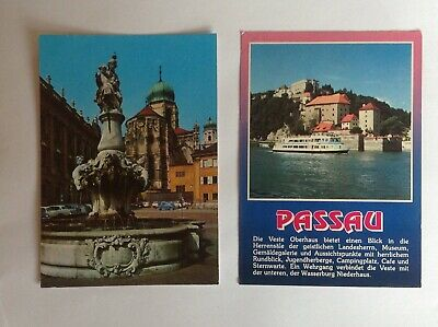 2 German postcards of Passau