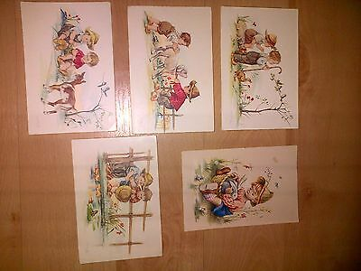 Five espania Spain postcards 1960s? 505/B 585/A
