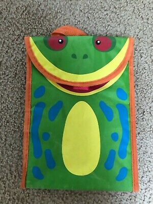 FROG School Lunch Box REUSABLE foldable Purse Smithsonian National Zoo Vintage