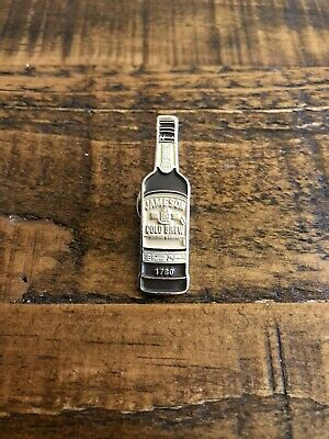 """COLLECTABLE JJ&S Jameson Irish Whiskey Bottle """"Cold Brew Edition"""" Jacket Pin"""
