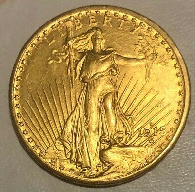 1915s $20 DOUBLE EAGLE GOLD COIN