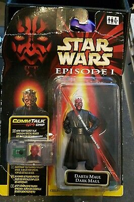 Star wars figurine Dark Maul Tatooine + Commtalk Cartouche sous blister