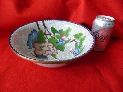 Cloisonné bowl in perfect condition with bird and flowers
