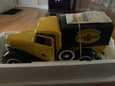 """Solido"" 1936 Ford ""Penzoil""Pick Up New With Decals In Mail Order Box ""Rare"""