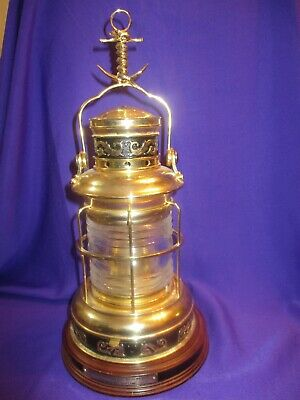 Brass Maritime Ship Lamp National Maritime Historical Society Franklin Mint