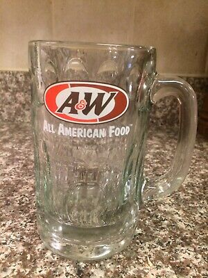 A&W Root Beer Mug - All American Food - Thick Heavy Glass Stein  (Box 30-2)