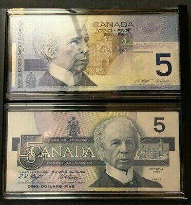 Canadian Lasting Impressions Limited Edition Collector's Set of 2 $5 Bills (891)
