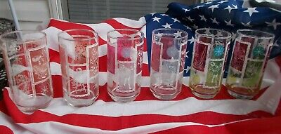 """Vintage 6 Glass Tumblers """"Drink Coca-Cola"""" / """"things go better with Coke"""""""