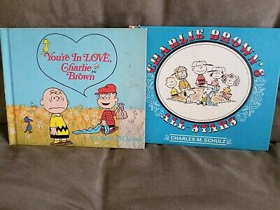 Peanuts Charlie Brown books Hard Cover Vintage Two Books Used First Edition