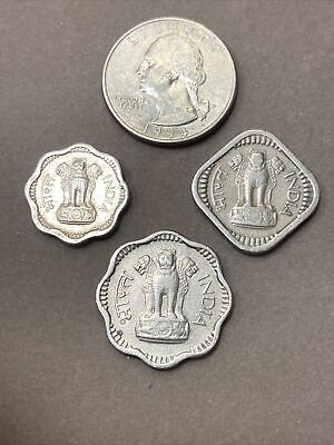 **INDIA 3 Coins 1957 5 Paise 1960 2 Paise 1959 10 Paise BU Beautiful 1c