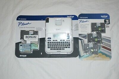 New White Brother P-Touch Label Maker Pt-2040Sc Bundle