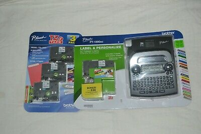 New White Brother P-Touch Label Maker Pt-1890Sc Bundle