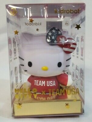 Kidrobot Hello Kitty TEAM USA Vinyl Mini Figure Surfing