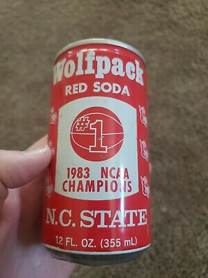 Vintage NC State Wolfpack 1983 NCAA Basketball Champions Coach Valvano 12 oz can