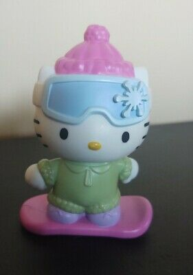 Sanrio Hello Kitty Skier Bobble Head Snowboard