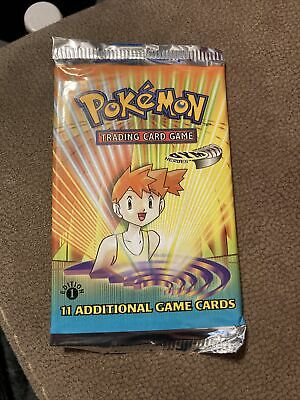 Brock Unweighed Pokemon Gym Heroes 1st Edition Booster pack