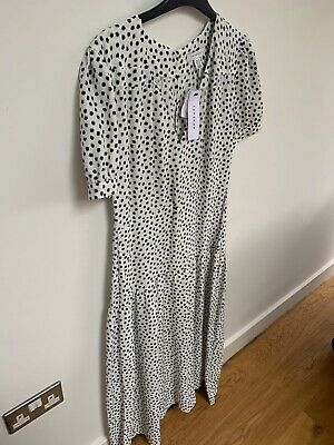 GRACE Black with blue floral print tunic 1631 knitted jersey midi dress