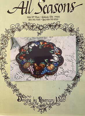 Small Trunk with Bird /& Fruits Rosemary West All Seasons Tole Painting Packet