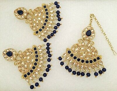 Gold diamante fashion earrings prom party brides bollywood mehndi SV5-610G//W//LCT