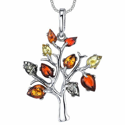 Womens Sterling Silver Baltic Amber Acorn Pendant Necklace 18 Rolo Chain Metal Masters Co